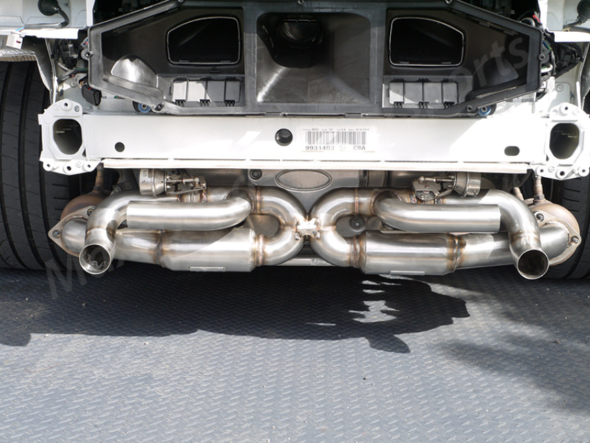 Nhp Porsche 991 S 991 C4s Center X Pipe With Sound