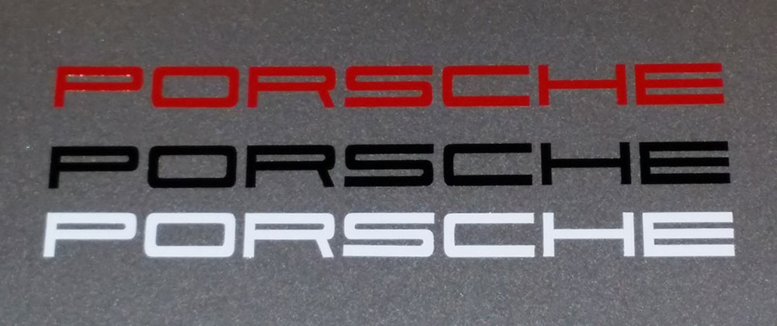 porsche calipers vinyl stickers white red black