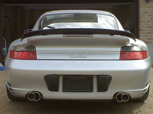 Porsche 996 C4s Turbo Nhp Exhaust Quad Tips X50 Style