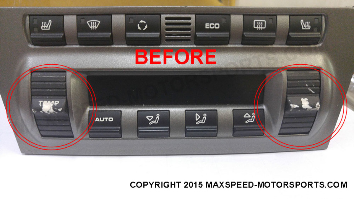 Porsche 987 / 997 AC Control HVAC Sticky Button Repair